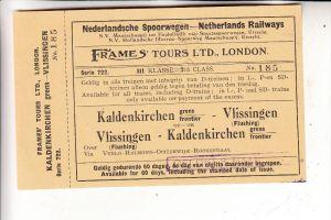 4054 NETTETAL - KALDENKIRCHEN, Fahrkarte Kaldenkirchen - Vlissingen der niederl. Eisenbahn, Frames Tours London