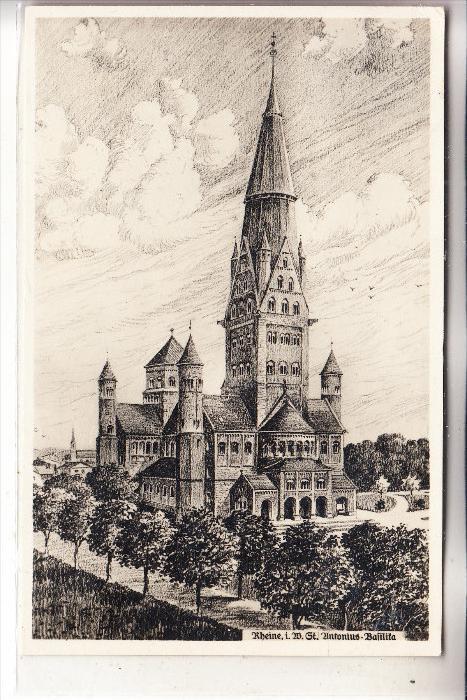 4440 RHEINE, St. Antonius Basilika, 193.., rücks. kl. Klebereste