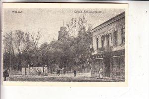 LITAUEN / LIETUVA - WILNA / VILNIUS, 1.Weltkrieg, 1917, Grosse Schlossstrasse, deutsche Feldpost - Sanitäts-Kraftwagen-A