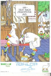 TIERE - ZIEGEN / Goats / Geiten / Chevre, Ziegenhirt - Ziegen - Comic Tretford Fun