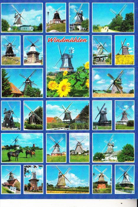 WINDMÜHLE / Mill / Molen / Moulin - Windmühlen in Norddeutschland