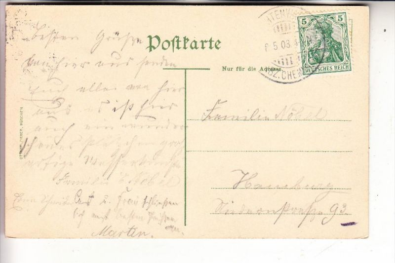 0-9387 NIEDERWIESA - LICHTENWALDE, Schloss Lichtenwalde, 1903 1