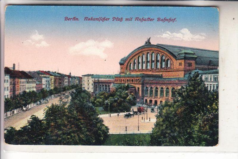 1000 BERLIN - KREUZBERG, Anhalter Bahnhof, Askanischer Platz, Station / La Gare