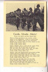 MILITÄR - UNIFORM, Wehrmacht, Lieder-Karte