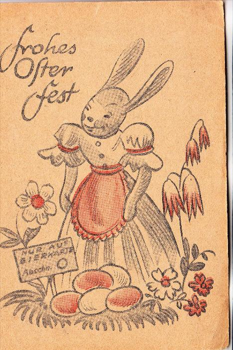 OSTERN -Frohes Osterfest, ca. 1950