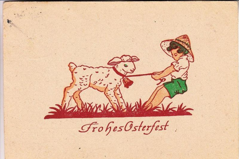 OSTERN -Frohes Osterfest, 50er Jahre