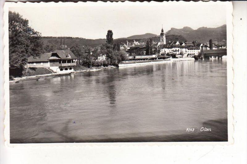 CH 4600 OLTEN, Panorama, 1959, rücks. Klebereste