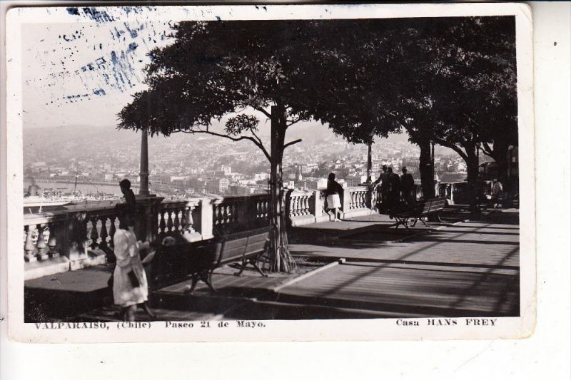 CHILE, VALPARAISO, Paseo 21 de Mayo, 1937