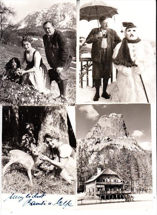 FILM / SCHAUSPIELER - PAUL DAHLKE & ELFE GERHART - DAHLKE, Privatfotos & Korrespondenz Urlaub 1960 Grundlsee
