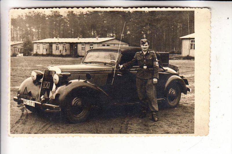 MILITÄR - 2.Weltkrieg, RAD, Arbeitsgau XXXI, Mercedes Benz Cabrio, Photo.-AK