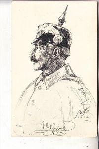 MONARCHIE - DEUTSCHLAND, Kaiser Wilhelm II mit Pickelhaube, Porträt