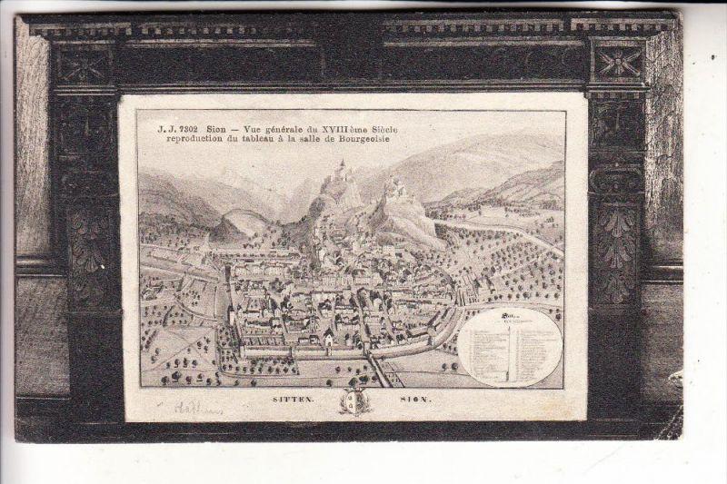 CH 1950 SION, Historische Ansicht, min. Randmängel, 1907
