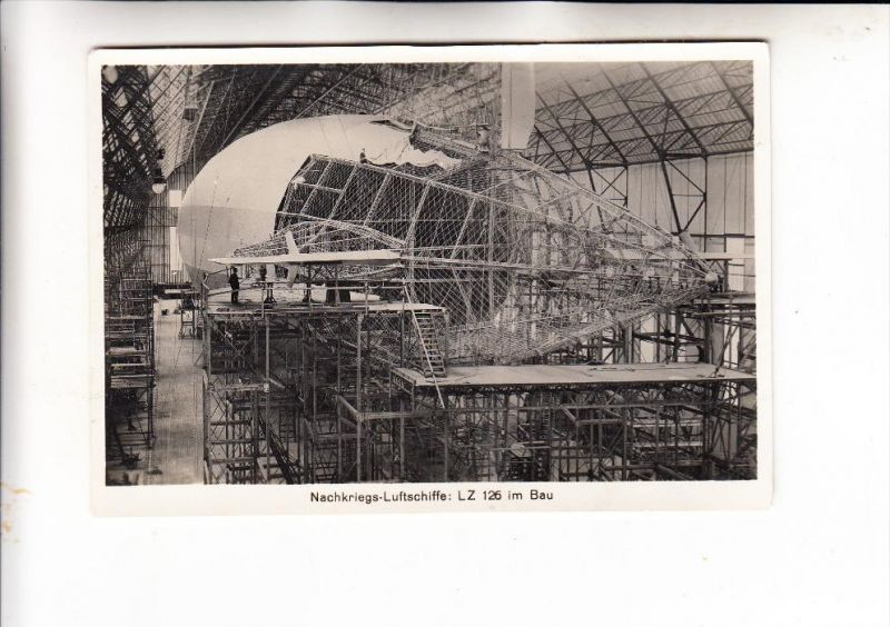 ZEPPELIN - LZ 125 in Bau, Grossphoto 16 x 11 cm