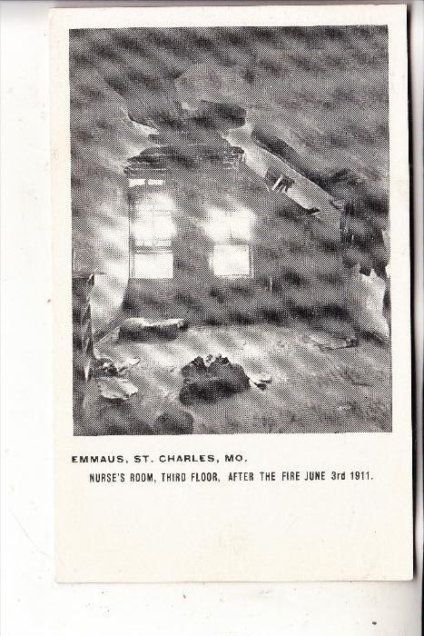 USA - MISSOURI - ST. CHARLES, Emmaus, after the fire June 1911