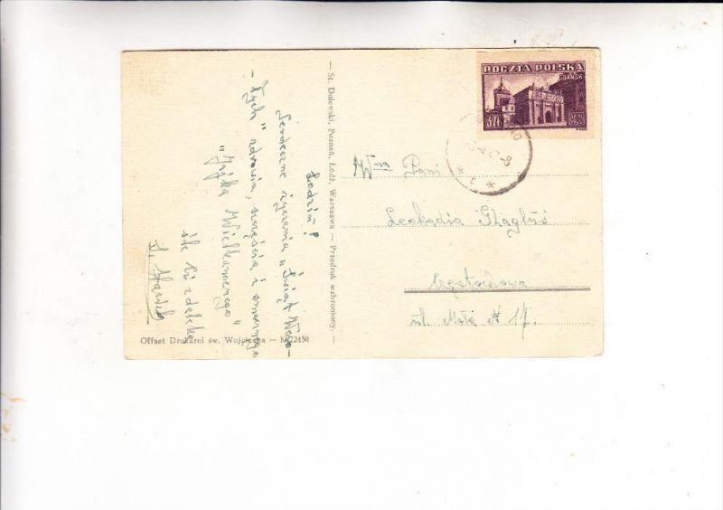 POLSKA / POLEN, 1945, Fischer 379, AK-Einzelfrankatur