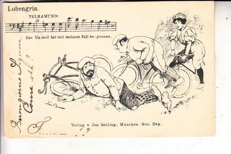SPORT - RADSPORT - Humor, 1898