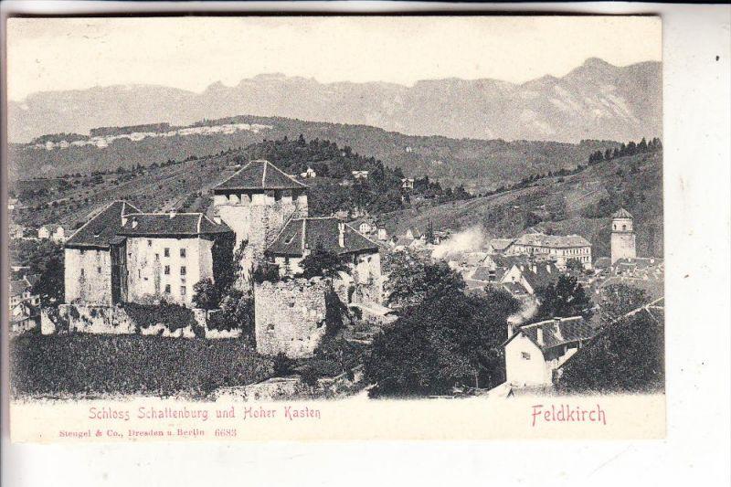 A 6800 FELDKIRCH, Schloss Schattenburg & Hoher Kasten, ca. 1905, Stengel-Dresden