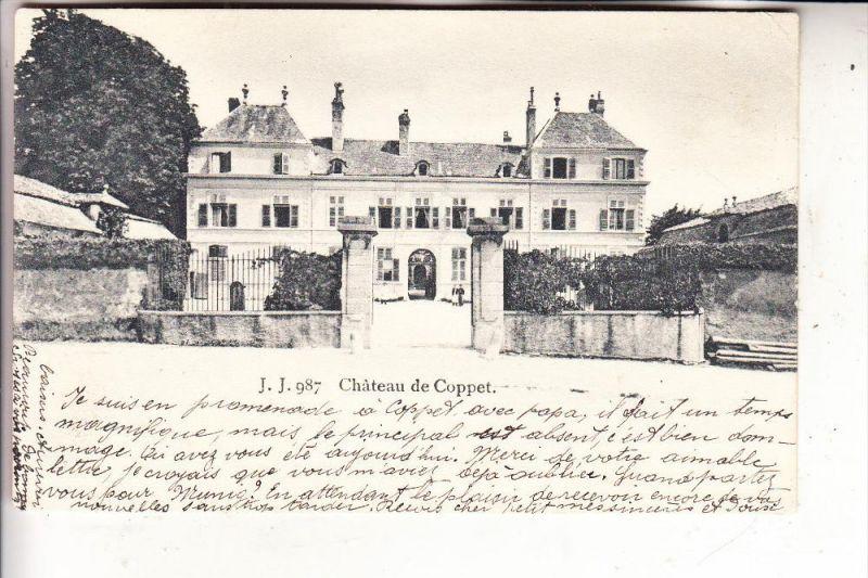CH 1296 COPPET, Chateau, 1907