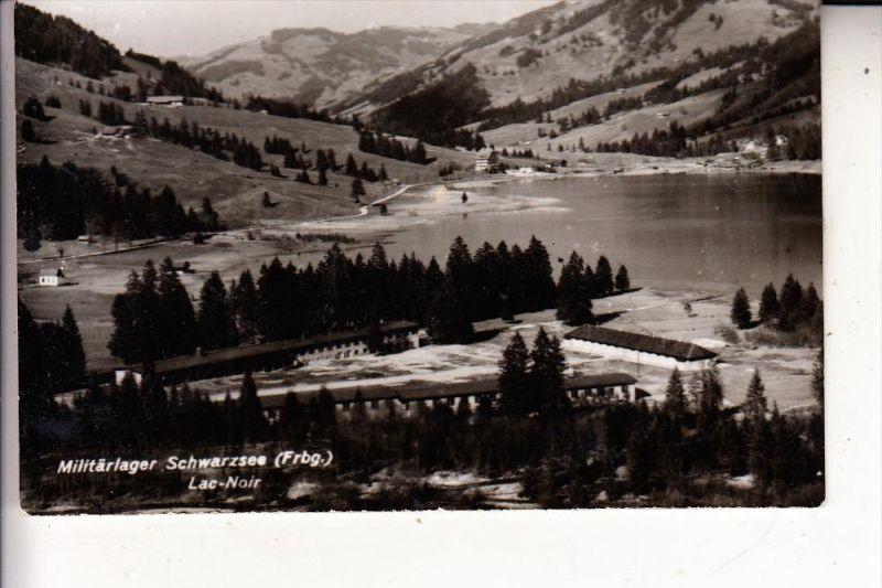 CH 1716 PLAFFEIEN - SCHWARZSEE, Militärlager, Militärpost, 1955