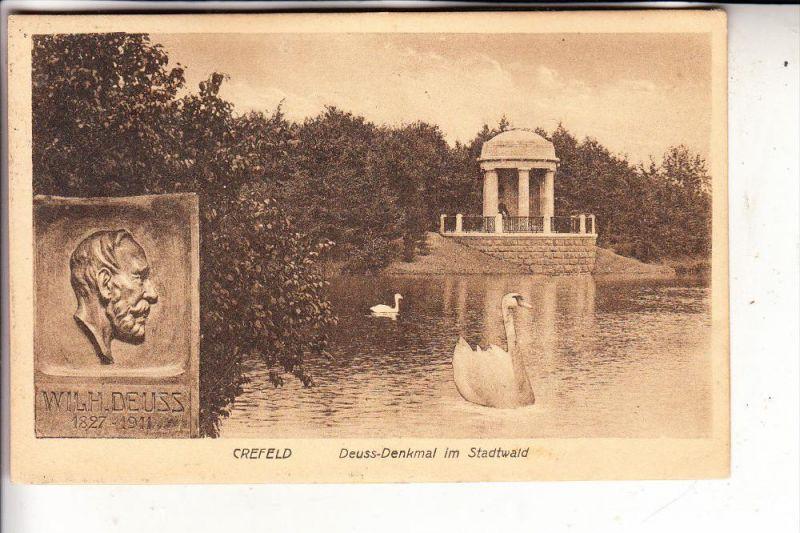 4150 KREFELD, Deuss-Denkmal im Stadtwald, 192..