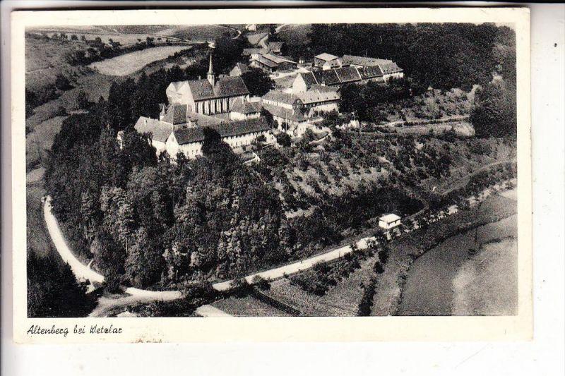 6330 WETZLAR, Kloster Altenberg, Luftaufnahme, 1954