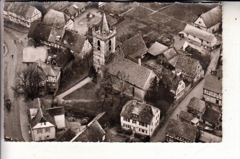 6454 BRUCHKÖBEL, Evang. Kirche, Luftaufnahme, 1958