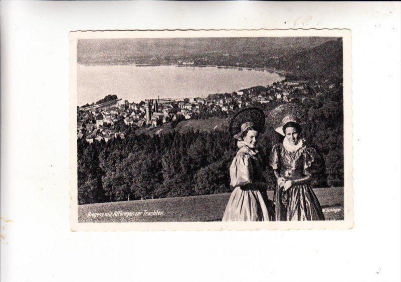 A 6900 BREGENZ, Panorama & Altbregenzer Trachten, 194...