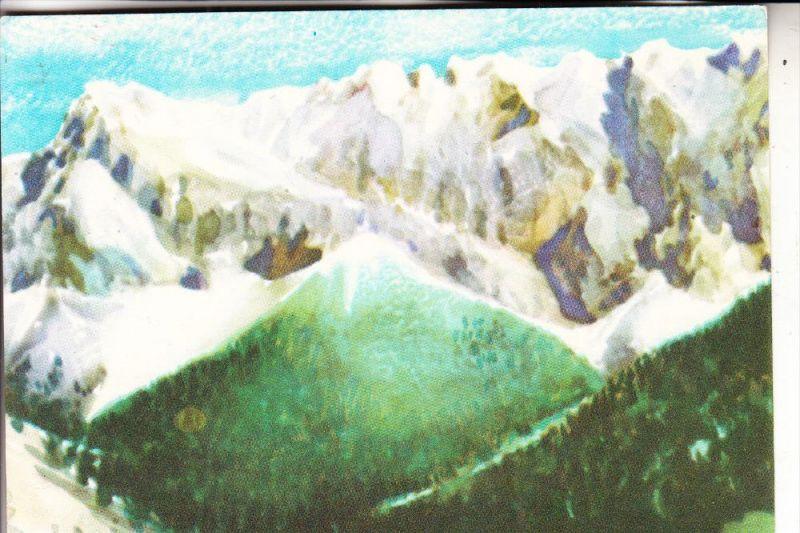 MONGOLIA / MONGOLEI - Künstler-Karte, Gebirgsgletscher