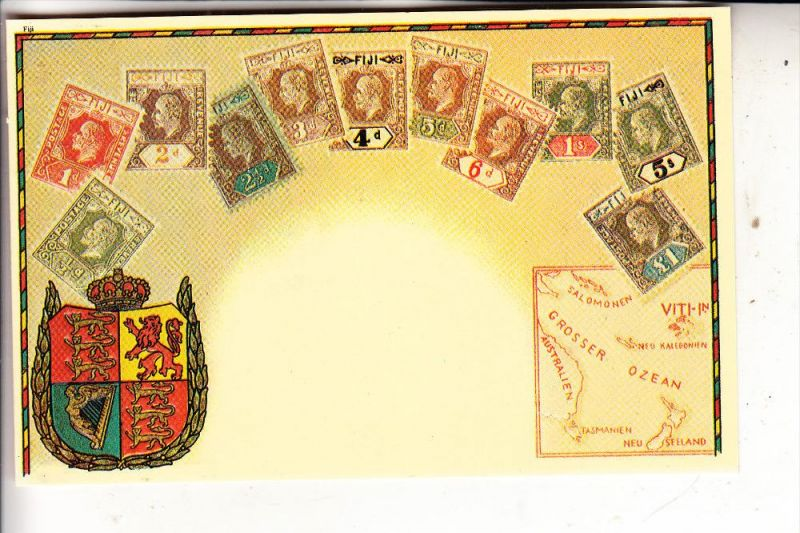 FIJI, early stamps of Fiji, REPRO