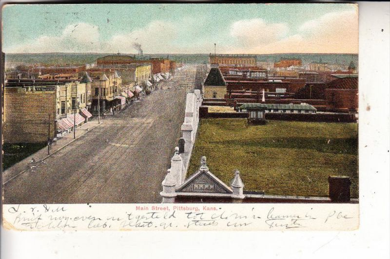 USA - KANSAS - PITTSBURG, Main Street, 1907