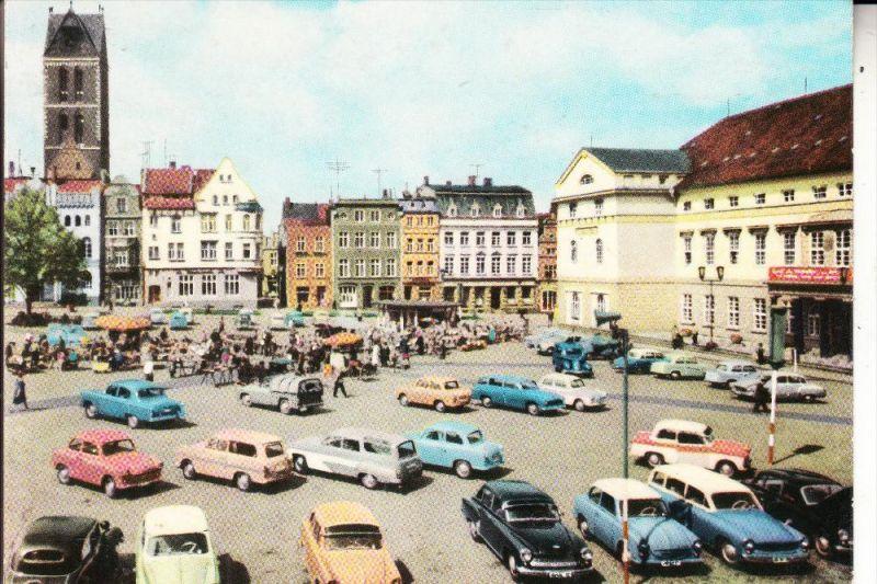 0-2400 WISMAR, Markt, DDR - Autos, 1967