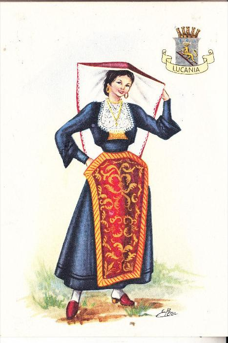 ITALIA / ITALIEN - LUCANIA, Costume / Trachten