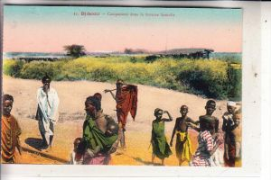 DSCHIBUTI / DJIBOUTI - Campement dans la brousse Somalis