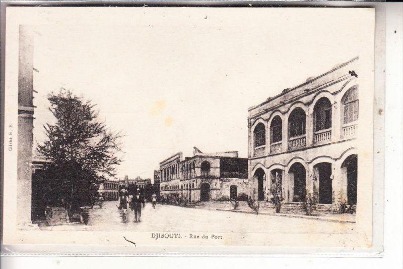 DSCHIBUTI / DJIBOUTI - Rue du Port