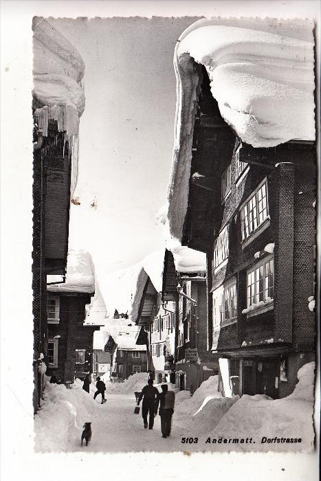 CH 6490 ANDERMATT UR, Dorfstrasse, 1952