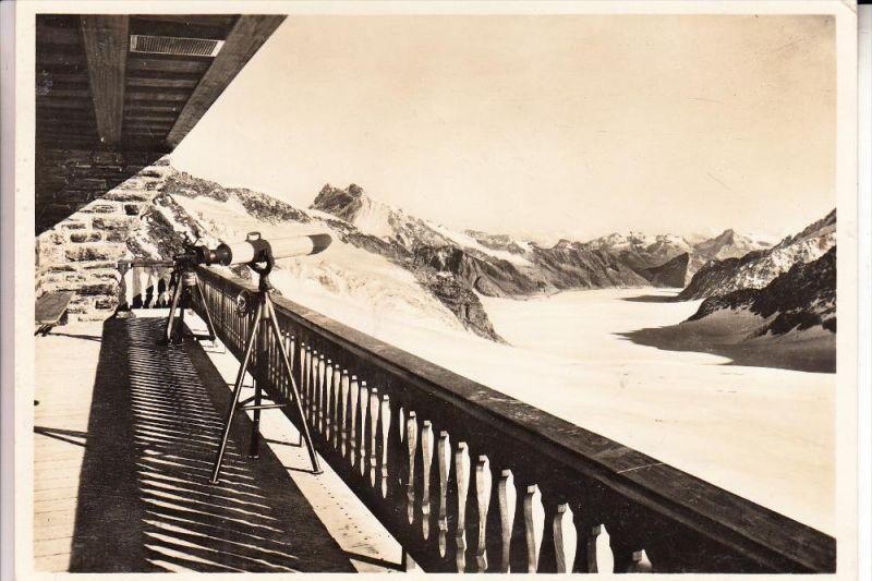 CH 3818 GRINDELWALD, Jungfraujoch, Berghaus-Gallerie und Aletschgletscher, 1932