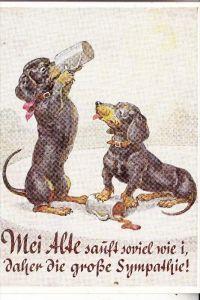 HUNDE - DACKEL / Teckel / Dachshund / Bassotto, Bier, Humor