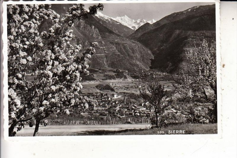 CH 3960 SIERRE / SIDERS, Panorama, 1957