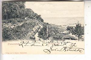 2400 LÜBECK - TRAVEMÜNDE, Brodtener Ufer, 1904