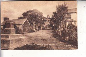 UK - ENGLAND - ISLE OF MAN, Maughold Church & Cross, 1922