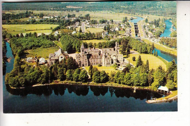 UK - SCOTLAND - INVERNESS - FORT AUGUSTUS ABBEY, air view