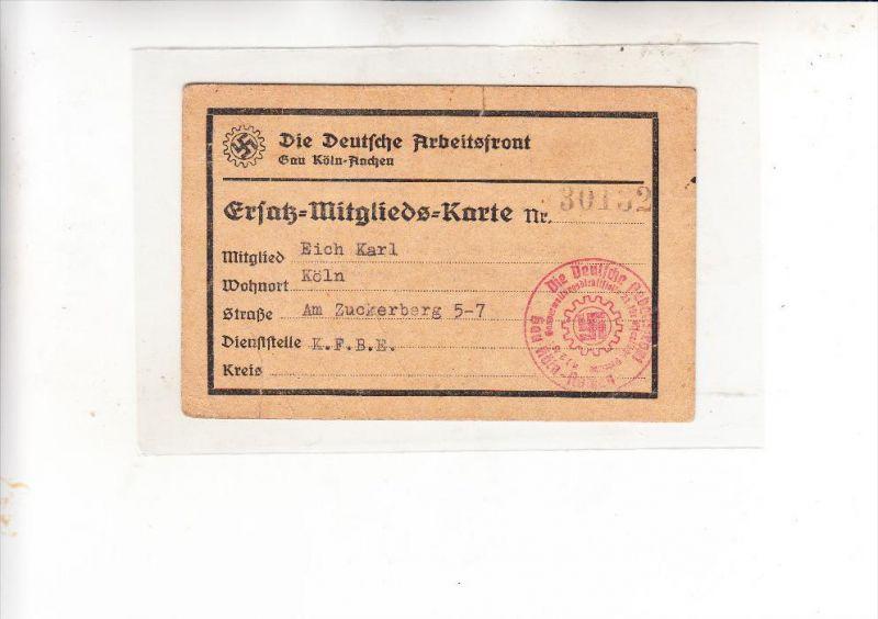 GESCHICHTE - 3. Reich, 12 Ausweise, Mitgliedkarten....