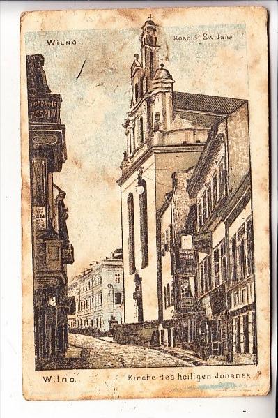 LITAUEN / LIETUVA - WILNA / VILNIUS, Kirche des heiligen Johannes, 1915, deutsche Feldpost