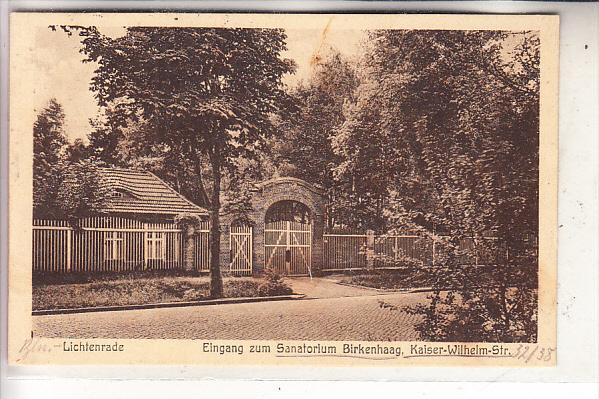 1000 BERLIN - LICHTENRADE, Eingang zum Santorium Birkenhaag, 1927