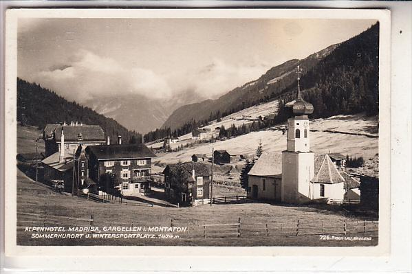 A 6791 ST. GALLENKIRCH - GARGELLEN, Alpenhotel Madrisa, 1927