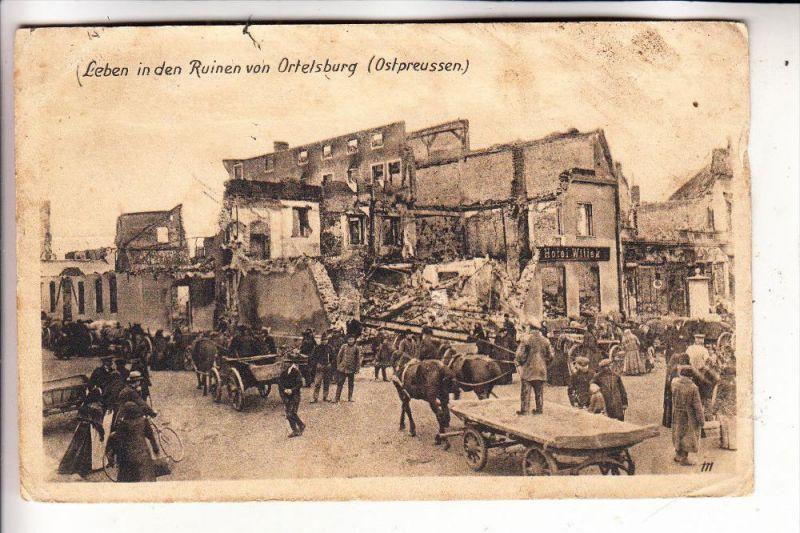 OSTPREUSSEN - ORTELSBURG / SZCZYTNO, 1.Weltkrieg, Ruinen, leicht angeschmutzt