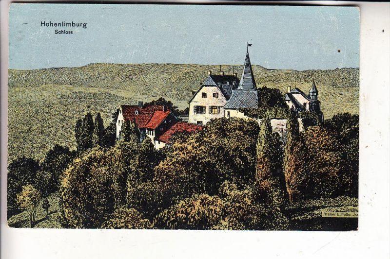 5800 HAGEN - HOHENLIMBURG, Schloss, Künstler-Karte Felle, 1911
