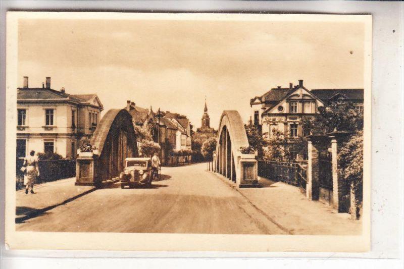 0-7232 BAD LAUSICK, Blick vom Bad zur Stadt, 1951, Auto-Oldtimer