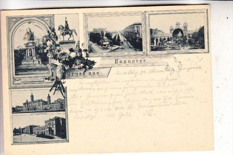 3000 HANNOVER, 1890, Lichtdruck, frühe Karte, sehr gute Erhaltung