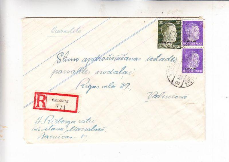 DEUTSCHE BESETZUNG OSTLAND / LETTLAND - R-Brief SALISBURG / MAZSALACA (1500 Einwohner) 5.5.1944
